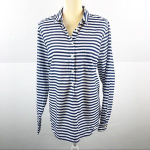 J.Crew Printed Voile Popover Shirt